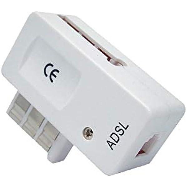 Omenex 491887 - Adaptador ADSL (RJ11, ADSL 2+/ADSL), Color Blanco: Amazon.es: Electrónica