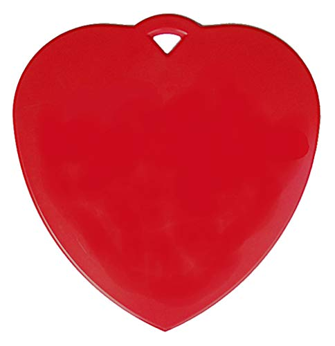Large Red Heart Balloon Weight - 130 Grams - 4 Pieces - Good for Love or Valentine's Day Balloons, Big Enough You can Write on it (Heart Balloon Weight)