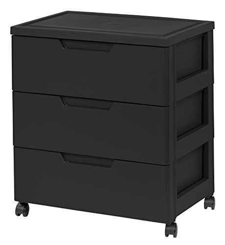 IRIS Drawer Wide Chest Black