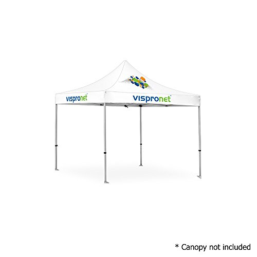 Aluminum Frame 10ft (Vispronet - 10ft x 10ft Commercial Aluminum Tent Frame - 10x10 Pop Up Canopy Frame (Frame Only, Canopy not Included))
