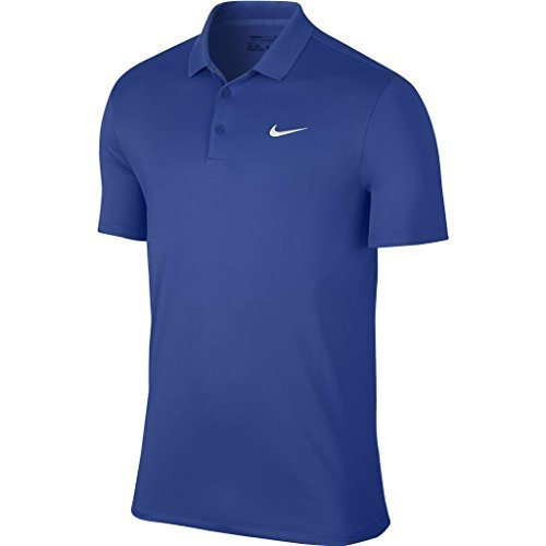 newest 77cd6 a9432 Nike 2016 Victory Solid Logo Chest Mens Golf Polo Shirt Game Royal White XL