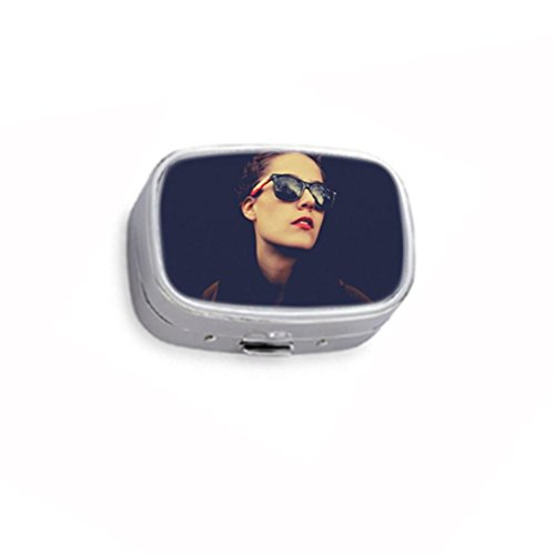 Icona Pop wearing Raybans Custom Unique Silver Round Pill Box Medicine Tablet Organizer or Coin - Bans Custom Ray