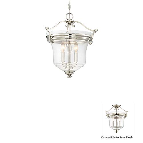 Minka Lavery Ceiling Pendant Chandelier Lighting 3297-613 Audrey's Point, 3-Light Fixture 180 Watts, Polished (Large Chandelier Light Fixture)