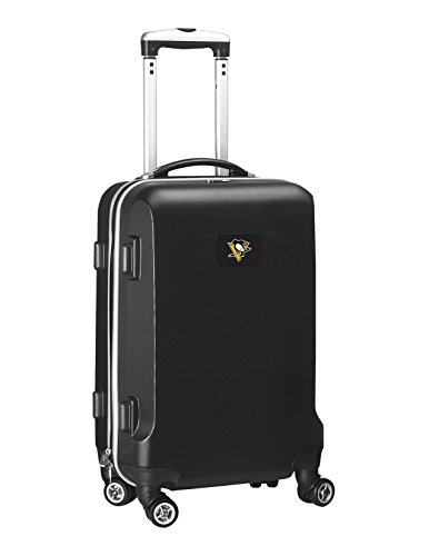 Denco NHL Pittsburgh Penguins Carry-On Hardcase Luggage Spinner, Black