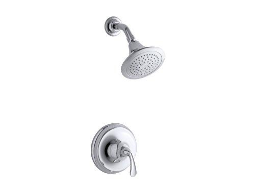 Kohler TS10276-4E-CP K-TS10276-4E-CP Forte Sculpted Rite-Temp Shower Valve Trim with 2.0 gpm showerhead Polished Chrome, 1