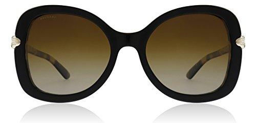 Bvlgari BV8202B 5443T5 Black/Blonde Havana BV8202B Butterfly Sunglasses Polar