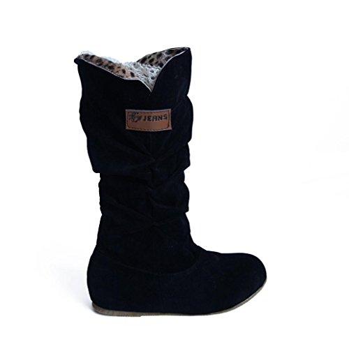 Snow Inverno Stivali Autunno Nuovo Pelliccia Beauty Donna Nero Neve Top Invernali con Stivaletti Boots Stivali tacco 1warq7Yw