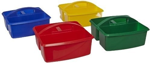 Early Childhood Resources Small Plastic Art Caddies - Set of 4 - Assorted Colors