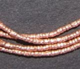 Copper Heishi Beads - Full Strand Ethiopian Metal Spacers for Jewelry Making - The Bead Chest (1.5mm)