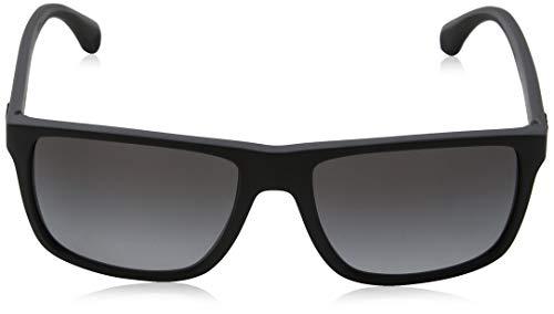 523266fa5f89 Emporio Armani EA 4033 Men s Sunglasses Black Grey Rubber 56 ...
