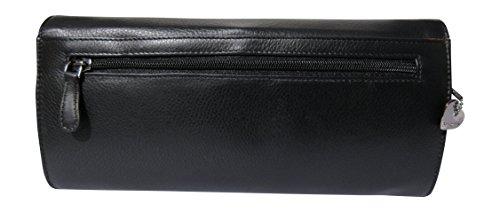 Josephine Osthoff Handtaschen-Manufaktur Clutch - schwarz -, Poschette giorno donna Nero nero 25,5 cm breit, 12 cm hoch, 4,5 cm tief.