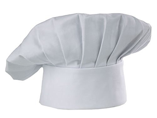 Rumfo Chef Hat Adult Adjustable Elastic Kitchen Uniform Cap For Baking Party Cooking Restaurant  White   3Pc