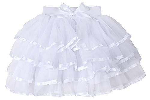 Princess Tutu Ballerina (storeofbaby Girls 4-Layered Tutu Skirt Fluffy Tulle Little Princess Petticoat Ballerina Skirt)