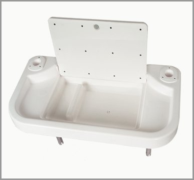 Oceansouth Fillet, Bait table, boat bait filet table rod holder mount features integrated sink by Oceansouth