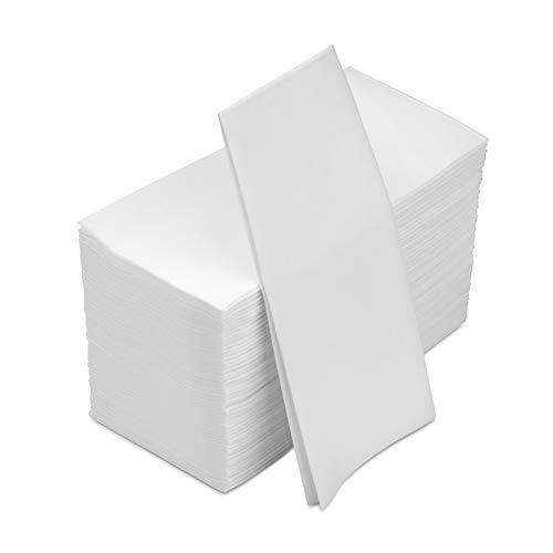 100 White Disposable Linen-Feel Guest Tissue Paper Towels, bathroom napkins guest disposable Hand Towels, guest towels…