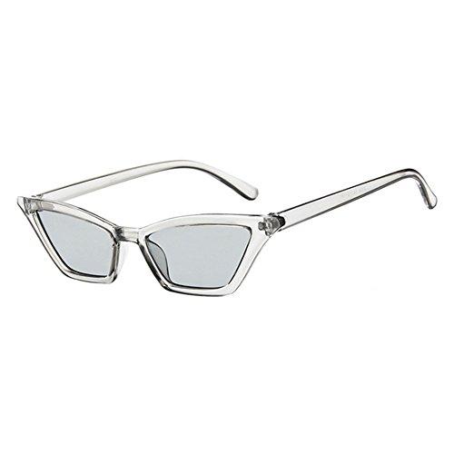 Uv400 piccolo E Protezione Occhiali Di Eyewear Sole Gatto Rispecchiato Vintage Grigio Donna Retro Classico Hzjundasi Da uomo Occhio OZkXiPu