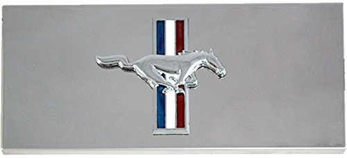 2005-2009 Ford Mustang & GT-500 Polished Stainless Steel Fuse Box Cover with Running Horse - Horse Emblem