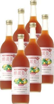 シーボン 酵素美人-赤(5倍濃縮ピンクグレープフルーツ味)720ml ×6本セット《酵素飲料》 B0095R7KBG