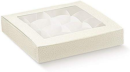 Subitodisponibile 10 Piezas Caja Pastelería Cuidado fácil Porta Tartas con Ventana (PVC y Inserto Piel Blanca: Amazon.es: Hogar