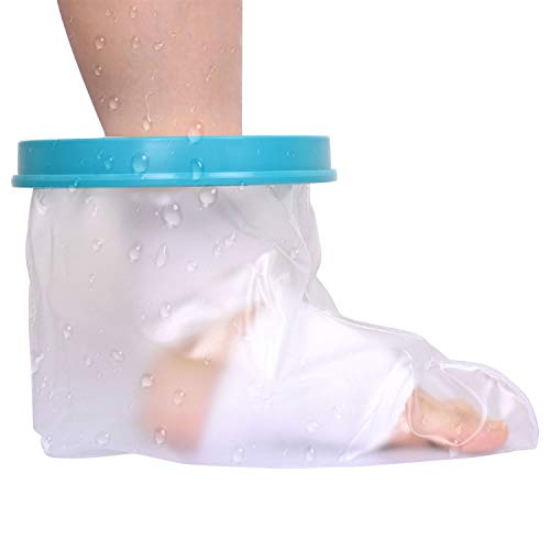 Plastic Foot Cast - Kids Waterproof Cast Cover Leg, Lightweight Reusable Cast Cover for Broken Foot, Ankle, Knee, Toe, Chirdren Plastic Dry Bag & Water Tight Seal, Keep Casts & Bandages Dry for Shower Bathing Or Swimming