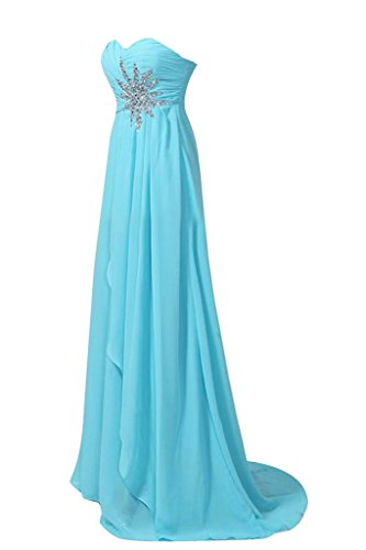 Vestido de fiesta de la bola Toscana novia elegante de la gasa de los vestidos de noche del partido de largo Empire