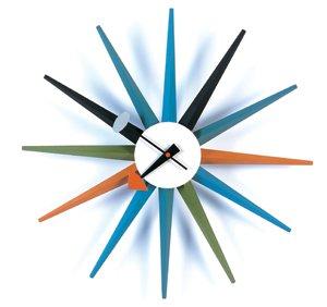 George Nelson Style Starburst Wall Clock: Amazon.co.uk ...