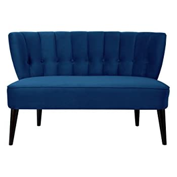 Jennifer Taylor Home 61110-859 Becca Settee, Navy Blue