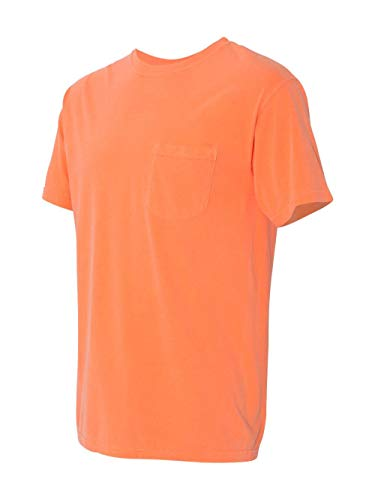 (Comfort Colors - Garment Dyed Heavyweight Ringspun Short Sleeve Shirt with a Pocket - 6030 - S - Melon)