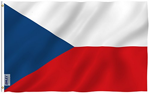Anley Fly Breeze 3x5 Foot Czech Flag - Vivid Color and UV Fade Resistant - Canvas Header and Double Stitched - Czechia National Flags Polyester with Brass Grommets 3 X 5 Ft