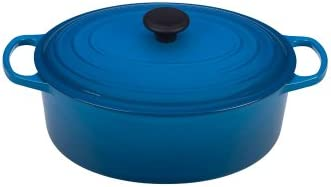 Le Creuset Signature Enameled Cast-Iron 6.75 Quart Oval French Dutch Oven, Marseille