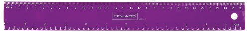 Fiskars Ruler (Fiskars 12 Inch Flexible Ruler, Color Received May Vary (12-87087097J))