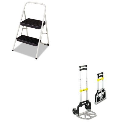 KITCSC11135CLGG1SAF4049 - Value Kit - Safco Stow amp;amp; Go Cart (SAF4049) and Cosco 2-Step Folding Steel Step Stool (CSC11135CLGG1) (Stow And Go Cart)