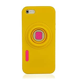 Buy Black New Camera Pattern Soft Silicone Case Cover Skin Protector for iPhone 5/5S , White