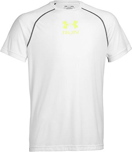 Under Armour Men's UA Tech Run Short Sleeve T-Shirt Large White