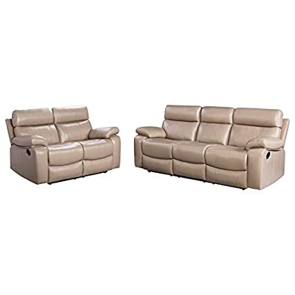 Amazon.com: Abbyson Living SK-1909A-BGE-3/2 Seligman Sofa ...