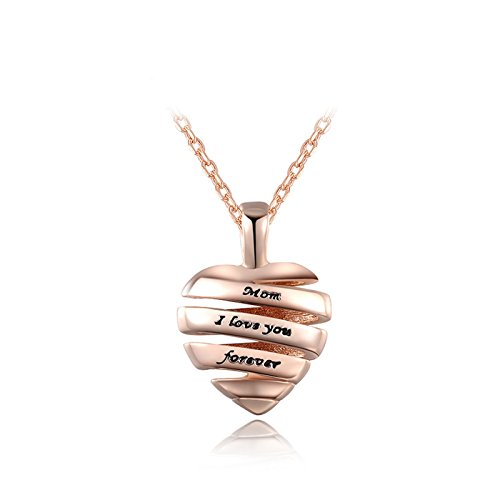 Stainless Steel Cursive Love Pendant Necklace (Gold Plated) - 4