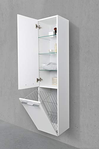 Amazonde Intarbad Badschrank Mit Wäschekippe Hochschrank H