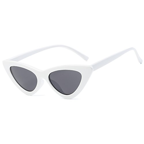 Kimorn Clout Goggles Sunglasses Women Metal Hinges Cat Eye Kurt Cobain Sun Glasses AE0566 - Sunglasses White Eye Cat