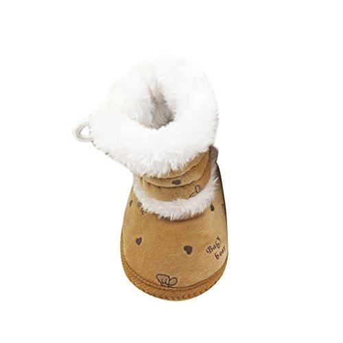 Babyschuhe Longra Baby Stiefel Schuhe weiche Sohle Stiefel Prewalker warme Lauflernschuhe Krippeschuhe (0-18 Monate Baby) Coffee