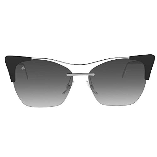 "PRIVÉ REVAUX""Mads"" Designer Sunglasses, Caviar Black/White Flash Grey Mirror"