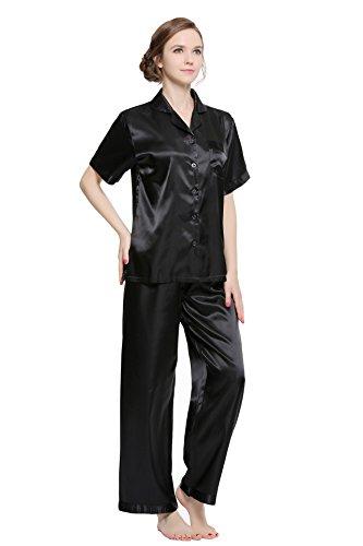 Womens 100% Silk Pajama - 8