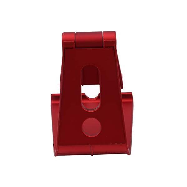 Botreelife Paresseux Support De Téléphone Bureau Universel MultifonctionSupport De Tablette en Plastique,Rouge