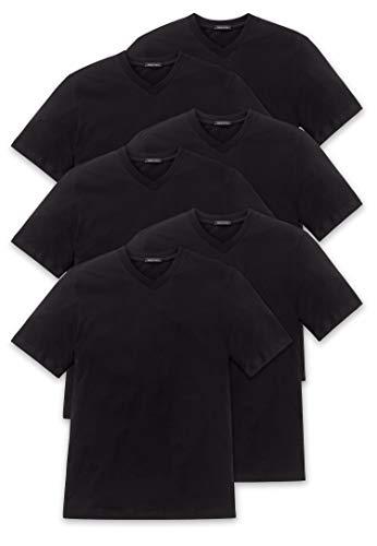 Camiseta O cuello Cuello v Pico 6er O Blanco M Redondo neck Schiesser Pack American Negro xxxl qw7TFtx