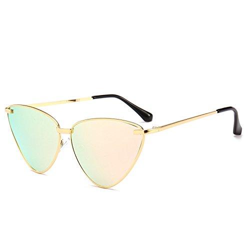 Mujer Gold Sol Rosa Solcat'S De Gafas Gafas Transparente De Océano De Lente Sol De Limotai Eye Tono Mujer Negro Gafas Gafas 40pwU