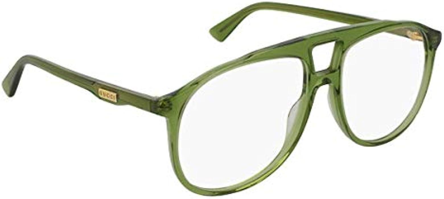 Gucci Lunettes de Vue GG0264O GREEN homme  Amazon.fr  Vêtements et  accessoires 13d0bf041bd