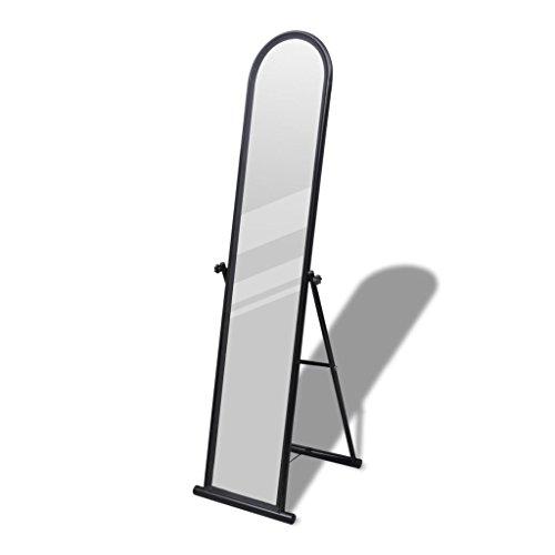 Chloe Rossetti Rectangular Free Standing Floor Mirror Full Length Mirror in Black Overall size Max.: 1' 3'' x 1' 5'' x 5' (L x W x H) by Chloe Rossetti