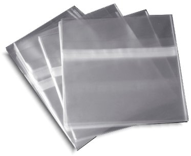 Resealable Plastic Wrap CD Sleeves 500 Pack