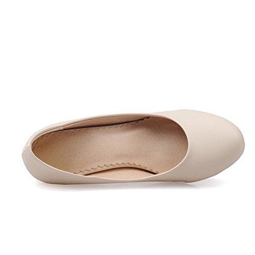 Balamasa Da Abbinare A Tacchi Alti In Tinta Con Fondo Tacco Basso Tomaia In Pelle Imitata Pumps-shoes Beige
