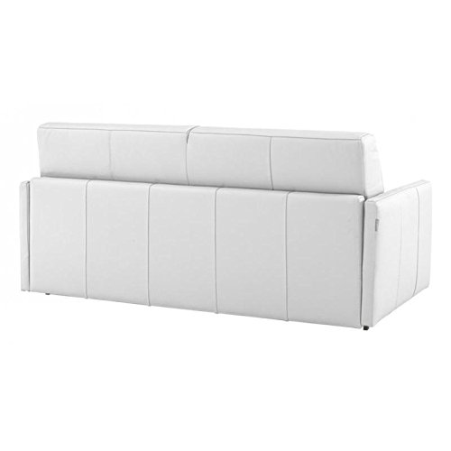 ITALIAN SPIRIT Sofá Cama 3 plazas Sun Convertible Apertura Rapido 140 cm, Piel de bajo Consumo de Color Blanco: Amazon.es: Hogar