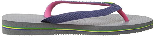 Havaianas Brasil Mix, Chanclas Unisex Adulto Gris (Steel Grey / 5178)
